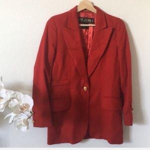 ESCADA | Cashmere wool blend red blazer jacket